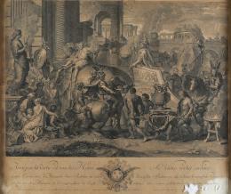 CHARLES LE BRUN (1619-1690) Y PIERRE PICAULT(1680-1711) Pintor y grabador franceses ENTRADA DE ALEJANDRO EN BABILONIA