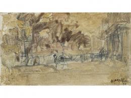 GUILLERMO VARGAS RUIZ (1910-1990) Pintor sevillano PAISAJE, 1972