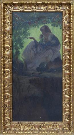 FERNANDO ÁLVAREZ DE SOTOMAYOR (El Ferrol, 1875 - Madrid, 1960) Escena mitológica, ca.1913
