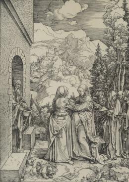 ALBERTO DURERO (1471-1528) Pintor y grabador alemán VISITACIÓN DE LA VIRGEN A SANTA ISABEL