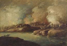 SIGUIENDO MODELOS DE EUGENIO LUCAS-VELÁZQUEZ (Madrid, 1817-1870) Batalla de los mamelucos