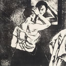 JOSE GUTIERREZ SOLANA ( Madrid, 1886- 1945) Mujer frente al espejo y La peinadora