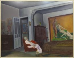 JUAN GIRALDEZ (1901-?) Pintor madrileño ESCENA DE INTERIOR