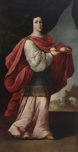 IGNACIO DE RIES (Flandes c.1612-Sevilla c.1661) Santa Águeda