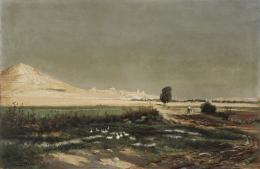 ANTONIO GRANER Y VIÑUELAS (Madrid, ¿1860 - 1905?) Paisaje