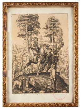 LUCAS VAN LEYDEN (Leiden, Países Bajos, 1494-1533) ABIGAIL Y DAVID, ca.1501
