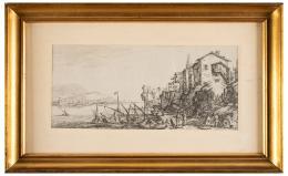 JACQUES CALLOT (Nancy, 1592 - 1635) DOS PAISAJES ITALIANOS, Ca 1630