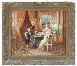 STEPHAN SEDLACEK (Austria 1868-1936) Escena galante en un salon Luis XV