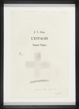 ANTONI TAPIES (Barcelona, 1923-2012) L´estació. 1984