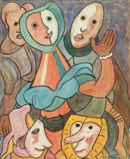 FRANCISCO MATEOS (Sevilla, 1894 - Madrid, 1976) Personajes,1972