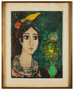 AGUSTÍN ÚBEDA (Herencia, Ciudad Real, 1925 - Madrid, 2007) Pájaros en la cabeza
