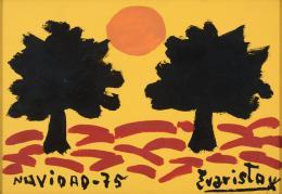EVARISTO GUERRA (Vélez-Málaga, 1942) Felicitación de navidad, 1975