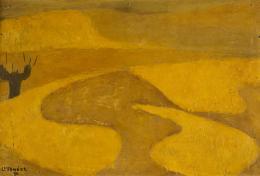 CONCHA IBAÑEZ ( Canet de mar, Barcelona,1929) Paisaje castellano, 1970