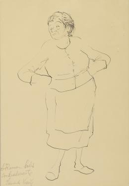 EDUARDO VICENTE (Madrid, 1909 - 1968) Retrato femenino