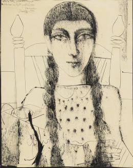 FRANCISCO HERNÁNDEZ (Melilla,1932 - Vélez-Málaga, 2012) Retrato de niña