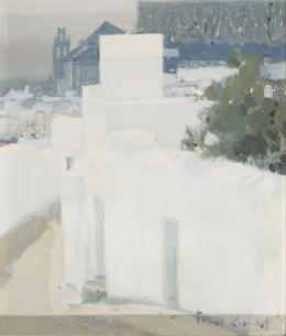 MANUEL TOSAR GRANADOS (Rota, Cádiz 1945) Paisaje en blanco