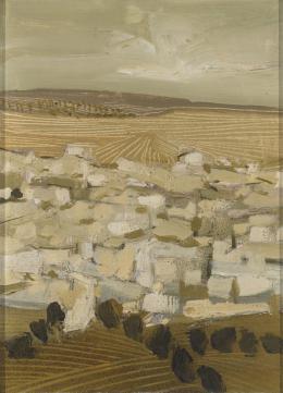 JOSÉ BEULAS (Gerona, 1921) Campos en ocre
