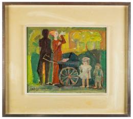 JOSÉ MÉNDEZ RUIZ (Madrid, 1936-Murcia, 1988) Madre e hijos, 1973
