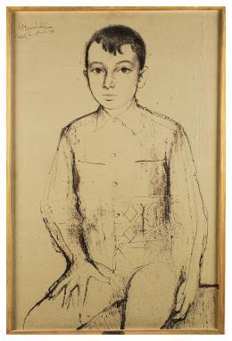 FRANCISCO HERNANDEZ (Melilla 1932-2012) Retrato de Jose Ramón, 1964