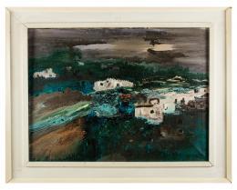 FÉLIX ADELANTADO (Zaragoza, 1911-2001) Paisaje canario, 1978