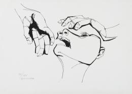 OSWALDO GUAYASAMIN (Ecuador 1910-Baltimore 1999) Cabeza y dos manos