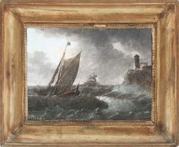 PIERRE JOSEPH WALLAERT (Lille, 1753- París, c.1812) Tempestad