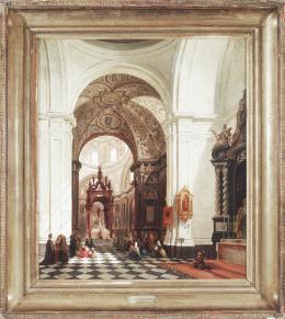 JOSEPH MASWIENS (Lovaina, 1828-1880) Capilla de San Andres, Iglesia de San Isidro, Madrid.