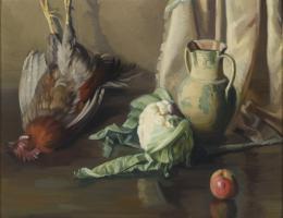 CELSO TAVERA (1929). Pintor zamorano BODEGÓN CON GALLO