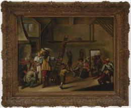 ESCUELA FLAMENCA SIGLO XVII Escena de taberna