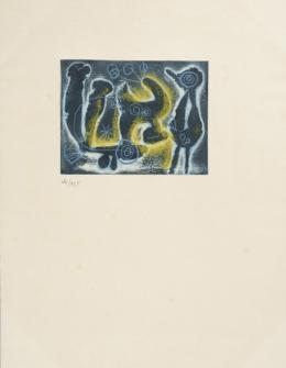 JOAN MIRÓ ( Barcelona, 1893- Mallorca, 1983) Sacades