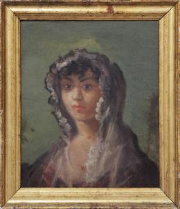 ESCUELA ESPAÑOLA FINALES S. XVIII - PPIOS.S XIX Retrato dama