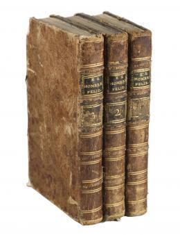 """CONJUNTO DE TRES TOMOS """"EL HOMBRE FELIZ"""", 1783."""