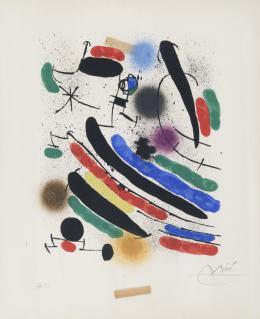 JOAN MIRÓ ( Barcelona, 1893- Mallorca, 1983) Sin título, 1972