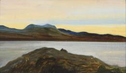 ESCUELA INGLESA, S. XX Evening over achiltibuie Ross-shire