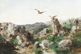 ESCUELA ESPAÑOLA, S. XX Paisaje con águilas