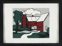 ROY LICHTENSTEIN (Nueva York, 1923- 1997) Red Barn