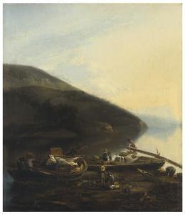 ESCUELA FLAMENCA, S. XVIII Pescadores