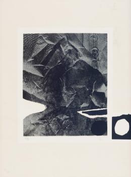 ANTONI CLAVÉ ( 1913 - 2005). Pintor barcelonés PAPIER FROISSÉ, 1975