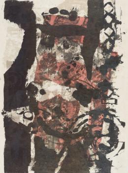 ANTONI CLAVÉ (1913 - 2005). Pintor barcelonés POCHOIRS, 1969