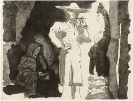 PABLO PICASSO (Málaga, 1881-Mougins, Francia, 1973) Jeune fille et vieille femme
