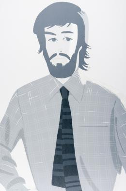 ALEX KATZ (Nueva York, 1927) Plaid shirt II. 1981