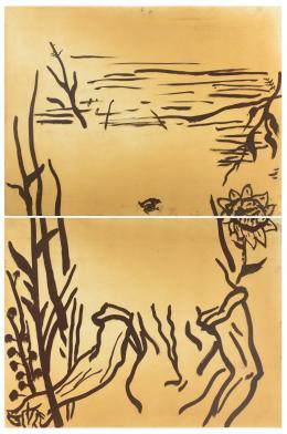JULIAN SCHNABEL (Nueva York, 1951) Untitled, from Brooklyn Academy of Music 1986-87