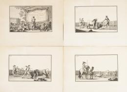 LUIS FERNÁNDEZ NOSERET (1793 - Madrid, 1829) Colección de las principales suertes de una corrida de toros.