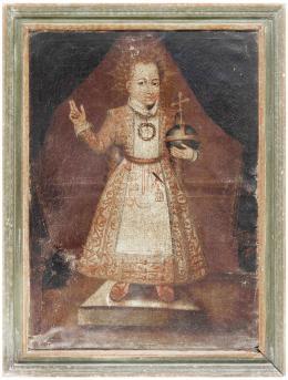 ESCUELA ESPAÑOLA SIGLO XVIII Niño Jesús Salvator Mundi