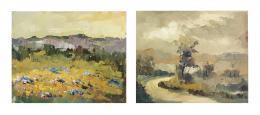 ELIDE RICCA (Ucoforte, Italia, 1939) Dos paisajes