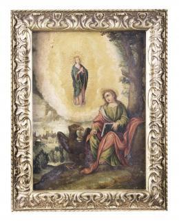 VISIÓN DE SAN JUAN EVANGELISTA EN PATMOS, ESCUELA ESPAÑOLA FINALES S.XVII