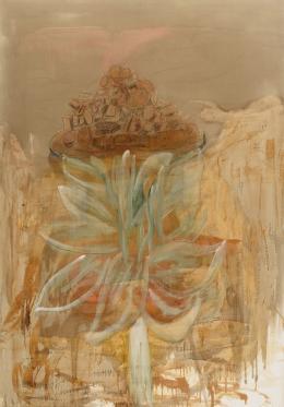 MIGUEL GALANDA (Caspe, 1951) Flores y basura, 1990.