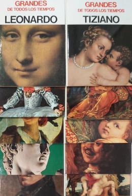 V.V.A.A. Grandes de todos los tiempos. 10 tomos: Leonardo, Velázquez, Goya, Miguel Ángel, Delacroix, Tiziano, Durero, Rafael, Rembrandt y Rubens.