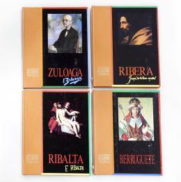 V.V.A.A. Los genios de la pintura española: Berruguete, Zuloaga, Ribalta y Ribera. 4 tomos.