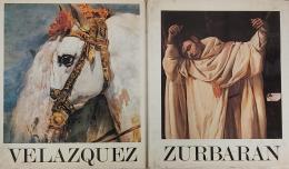 JOSÉ GUDIOL Lote de dos catálogos: Velázquez 1599 - 1660 y Zurbarán 1598 - 1664.